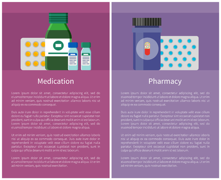 Pharmacy and Medication Items Vector Illustration Reklamní fotografie