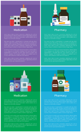 Medication and Pharmacy Item Vector Illustration Reklamní fotografie