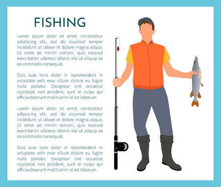 Fisherman Color Model Form Poster With Text Sample