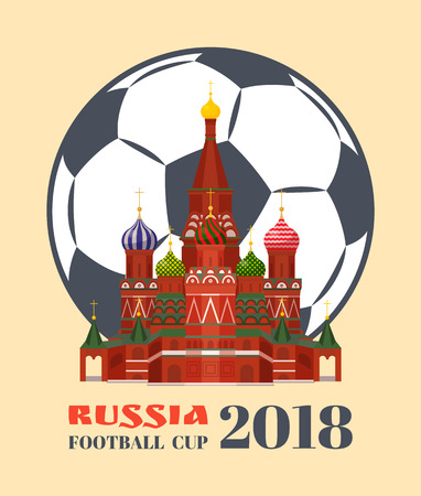 Russia Football Cup 2018 Color Vector Illustration