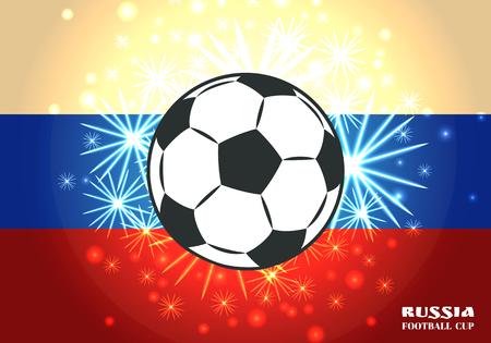 Soccer Ball on Salute and Spangle Illustartion