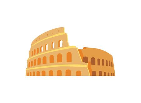 Ruiny rzymskiego Koloseum w stylu architektury antycznej