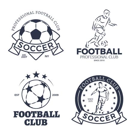 Soccer Posters Sport Game Set Vector Illustration Ilustracja