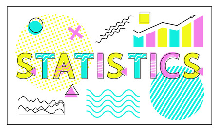 Statistics Card with Charts and Graphs Collection