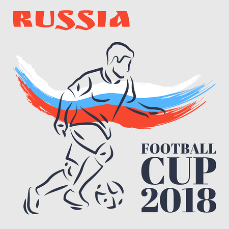 Russia Football Cup Poster Vector Illustration