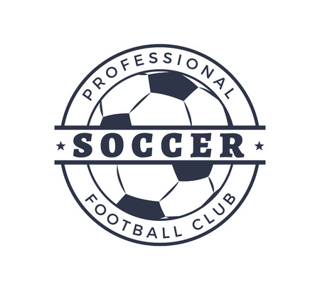 Professional Soccer Football Club Badge Closeup