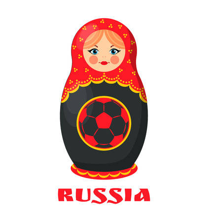 Russia Poster Russian Doll Vector Illustration
