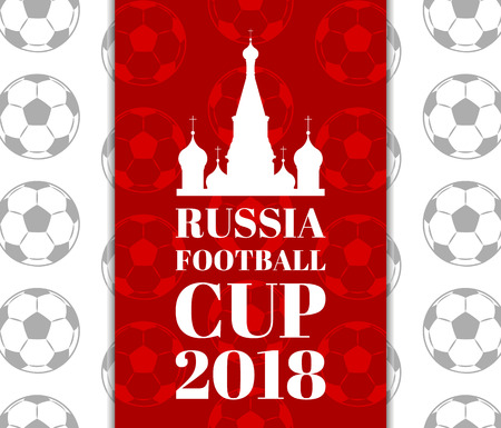 Russia Football Cup Pattern Vector Illustration
