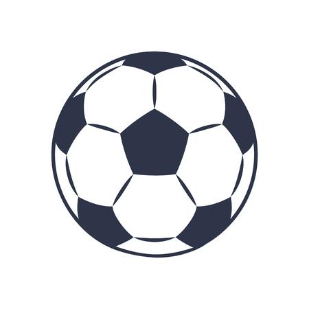 Footballers Ball Closeup, Vector Illustration Illustration