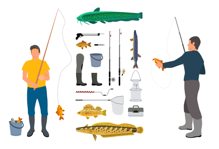 Color Angler Model Vector Illustration Poster 写真素材