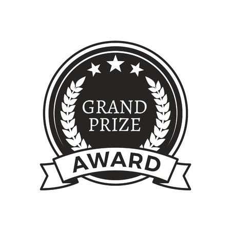 Grand Prize Award Monochrome Round Promo Logotype