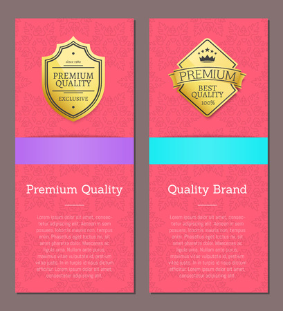 Premium Quality and Brand Vector Illustration Reklamní fotografie - 110758011