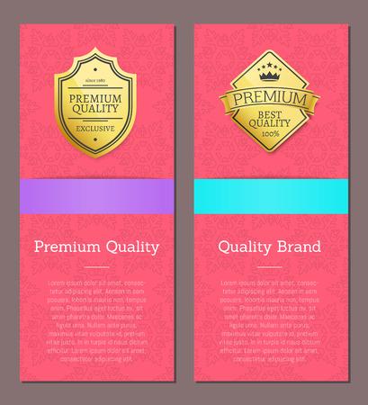 Premium Quality and Brand Vector Illustration