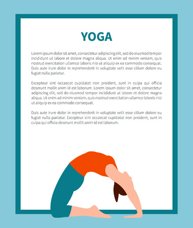 Yoga and Informational Text Vector Illustration