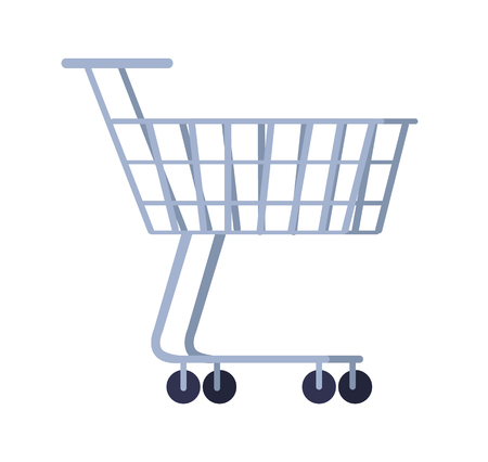 Cart for Purchases Isolated on White Background Stock Vector - 111002693