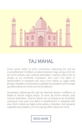 Taj Mahal Famous Building of Luxurious Marble