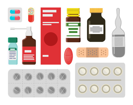 Pills and Liquids to Treat Illnesss and Ease Pain