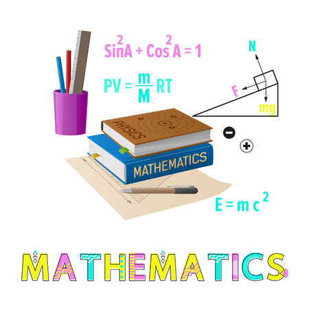 Mathematics Poster Supplies Vector Illustration Reklamní fotografie - 111002884