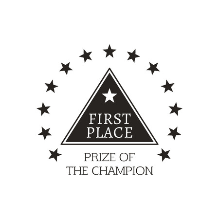 First Place Prize of Champion Vector Illustration Stock Vector - 111003362