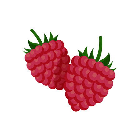 Sweet Small Raspberry with Fruit-stalk Poster Stock fotó - 111003416