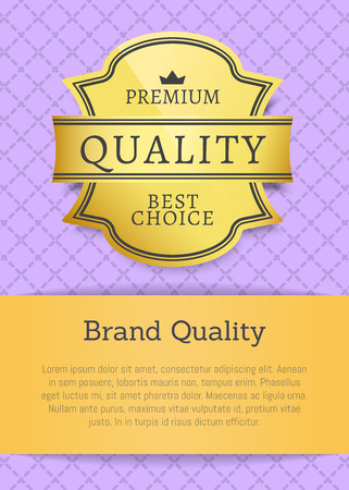 Brand of Premium Quality Label and Promo Banner Stock Vector - 111003610