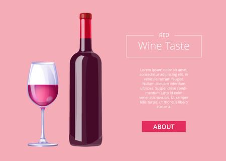 Red Wine Taste Poster Bottle Burgundy Merlot Glass