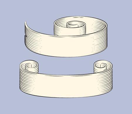 Ribbons Sketches Outline Set Vector Illustration