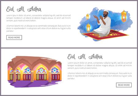Eid Al Adha Holiday Internet Pages Templates Set