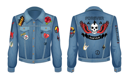 Rock and Roll Forever Prints Set on Denim Wear