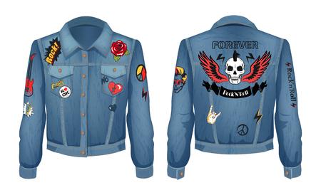 Rock and Roll Forever Prints Set on Denim Wear
