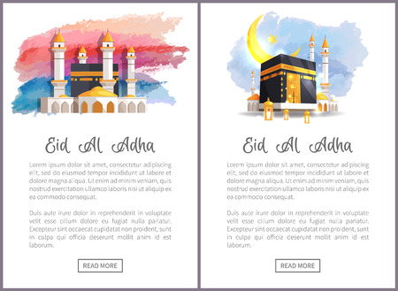 Eid Al Adha Holiday Internet Promo with Holy Place