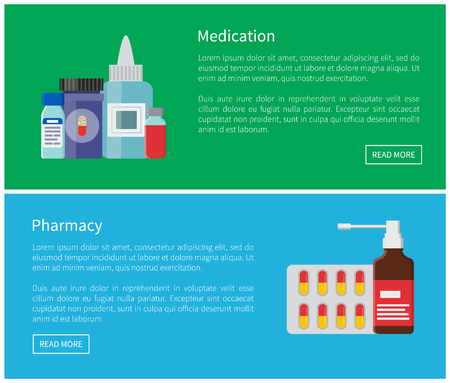 Medication Pharmacy Poster Vector Illustration