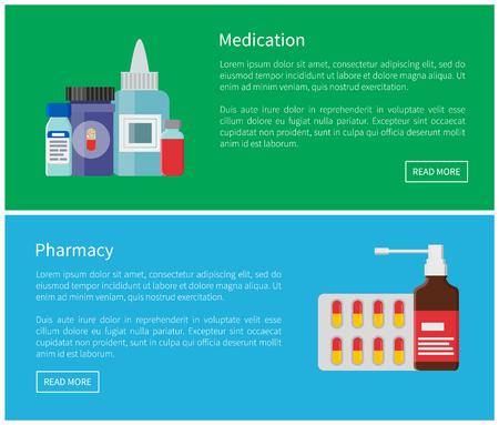 Medication Pharmacy Poster Vector Illustration