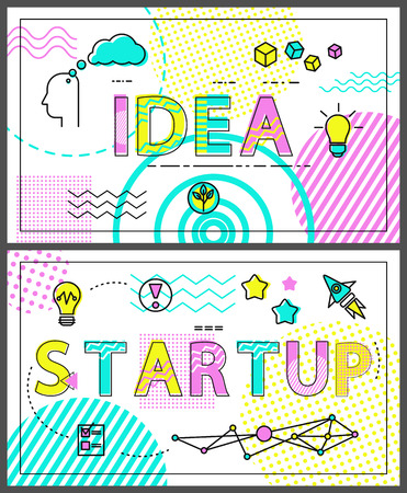 Idea and Start Up Collection Vector Illustration Imagens - 111414603