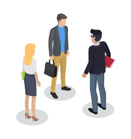Businessman at Meeting 3D Vector Illustration