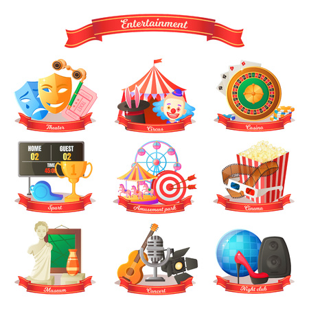 Entertainment Circus Cinema Vector Illustration