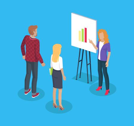 Meeting of Freelancer Women Vector Illustration