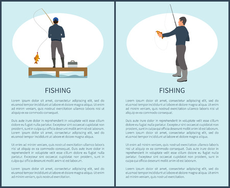 Sportfisherman with Fishing Gear and Fish Catch Stock Photo