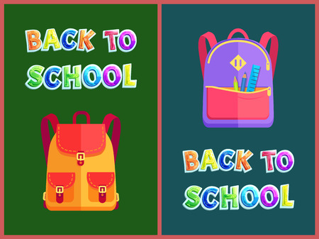 Back to School Set of Satchels Vector Illustration Zdjęcie Seryjne - 111414695
