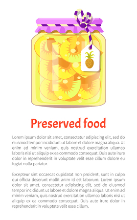 Preserved Food Pineapple Vector Illustration Banco de Imagens - 111414715