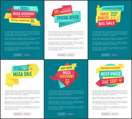 Sale Special Offer Posters Vector Illustration