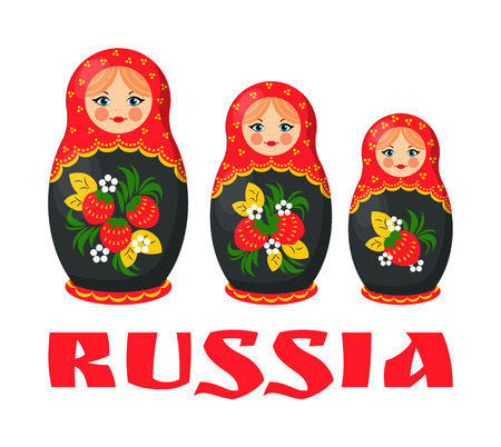 Traditional Russian Matryoshka Doll Illustration