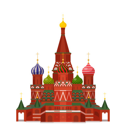 Moscow St Basil Cathedral Vector Illustration Ilustracja