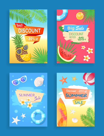 Summer Sale Vector Banner Promotion Leaflet Sample Stock Illustratie