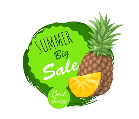 Summer Big Sale Summertime Vector Illustration