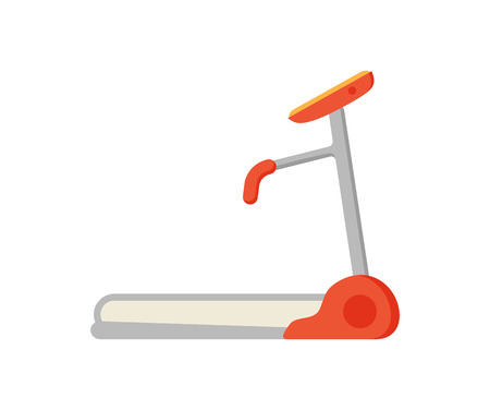 Treadmill Electric Device Icon Vector Illustration Ilustracja
