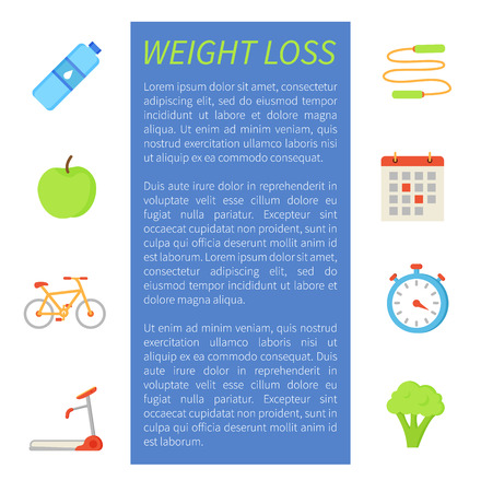 Weigh Loss Sport Poster Icon Vector Illustration