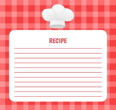 Recipe Chef Hat Icon Notebook Vector Illustration Ilustrace