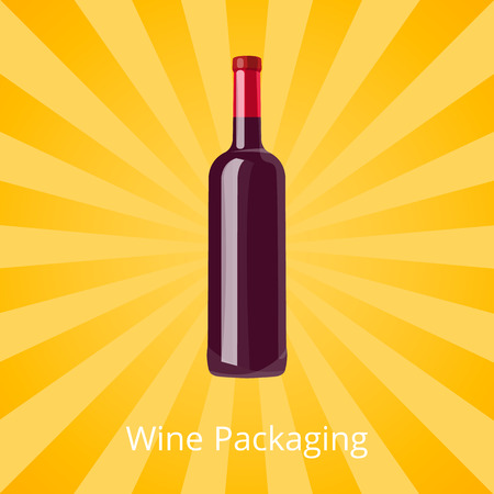 Bottle of Red Wine Isolated Background with Rays