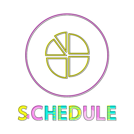 Statistical Schedule Isolated on White Background